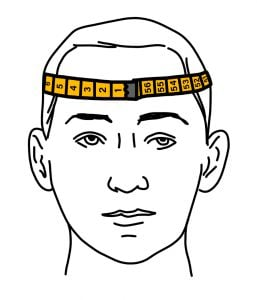 Measure head circumference guide