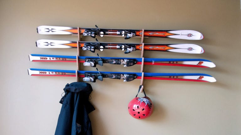 Ski storage during off-season