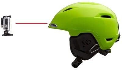 Ski helmet camera mount for GoPro
