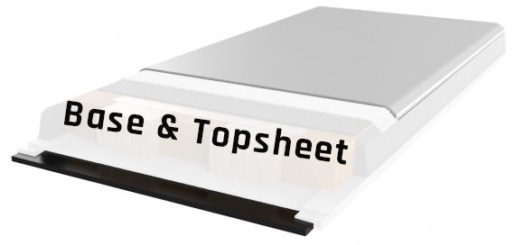 Base and topsheet layers