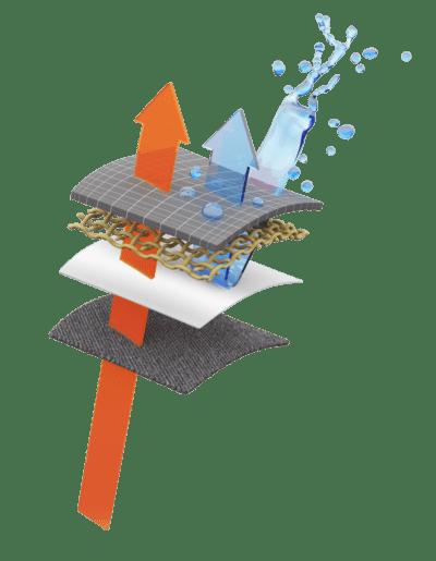 gore-tex 3d render illustration